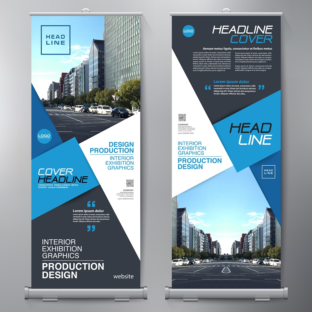 Double-Sided Roll Up Banners
